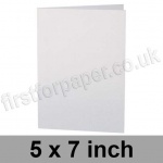 Stargazer Pearlescent, Pre-creased, Single Fold Cards, 300gsm, 127 x 178mm (5 x 7 inch), Arctic White