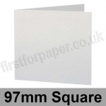 Stargazer Pearlescent, Pre-creased, Single Fold Cards, 300gsm, 97mm Square, Arctic White