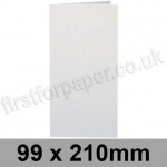 Stardream, Pre-creased, Single Fold Cards, 285gsm, 99 x 210mm, Crystal White