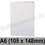 Stardream, Pre-creased, Single Fold Cards, 285gsm, 105 x 148mm (A6), Crystal White