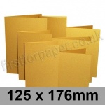 Stardream, Pre-creased, Single Fold Cards, 285gsm, 125 x 176mm, Fine Gold