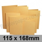 Stardream, Pre-creased, Single Fold Cards, 285gsm, 115 x 168mm, Gold