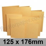 Stardream, Pre-creased, Single Fold Cards, 285gsm, 125 x 176mm, Gold