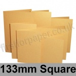 Stardream, Pre-creased, Single Fold Cards, 285gsm, 133mm Square, Gold