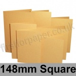 Stardream, Pre-creased, Single Fold Cards, 285gsm, 148mm Square, Gold