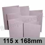 Stardream, Pre-creased, Single Fold Cards, 285gsm, 115 x 168mm, Kunzite