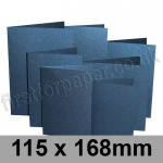 Stardream, Pre-creased, Single Fold Cards, 285gsm, 115 x 168mm, Lapislazuli