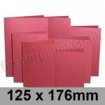 Stardream, Pre-creased, Single Fold Cards, 285gsm, 125 x 176mm, Mars