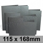 Stardream, Pre-creased, Single Fold Cards, 285gsm, 115 x 168mm, Onyx
