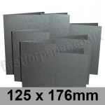 Stardream, Pre-creased, Single Fold Cards, 285gsm, 125 x 176mm, Onyx