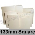 Stardream, Pre-creased, Single Fold Cards, 285gsm, 133mm Square, Opal