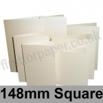 Stardream, Pre-creased, Single Fold Cards, 285gsm, 148mm Square, Opal