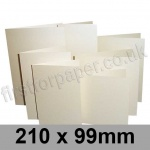 Stardream, Pre-creased, Single Fold Cards, 285gsm, 210 x 99mm, Opal