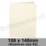 Stargazer Pearlescent, Pre-creased, Single Fold Cards, 300gsm, 108 x 140mm (American A2), Oyster