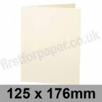 Stargazer Pearlescent, Pre-creased, Single Fold Cards, 300gsm, 125 x 176mm, Oyster