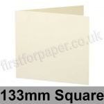 Stargazer Pearlescent, Pre-creased, Single Fold Cards, 300gsm, 133mm Square, Oyster