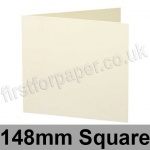 Stargazer Pearlescent, Pre-creased, Single Fold Cards, 300gsm, 148mm Square, Oyster