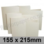 Stardream, Pre-creased, Single Fold Cards, 285gsm, 155 x 215mm, Quartz