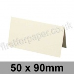 Stargazer Pearlescent, Pre-creased, Place Cards, 300gsm, 50 x 90mm, Oyster