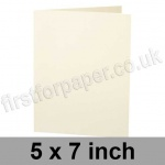 Stargazer Pearlescent, Pre-creased, Single Fold Cards, 300gsm, 127 x 178mm (5 x 7 inch), Oyster
