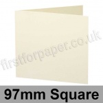 Stargazer Pearlescent, Pre-creased, Single Fold Cards, 300gsm, 97mm Square, Oyster