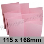 Stardream, Pre-creased, Single Fold Cards, 285gsm, 115 x 168mm, Rose