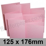 Stardream, Pre-creased, Single Fold Cards, 285gsm, 125 x 176mm, Rose