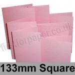 Stardream, Pre-creased, Single Fold Cards, 285gsm, 133mm Square, Rose