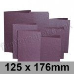 Stardream, Pre-creased, Single Fold Cards, 285gsm, 125 x 176mm, Ruby