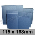 Stardream, Pre-creased, Single Fold Cards, 285gsm, 115 x 168mm, Sapphire