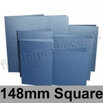 Stardream, Pre-creased, Single Fold Cards, 285gsm, 148mm Square, Sapphire