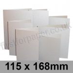 Stardream, Pre-creased, Single Fold Cards, 285gsm, 115 x 168mm, Silver