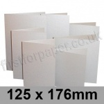 Stardream, Pre-creased, Single Fold Cards, 285gsm, 125 x 176mm, Silver