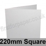 Stargazer Pearlescent, Pre-creased, Single Fold Cards, 300gsm, 220 x 220mm, Pearl White