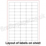 Mutipurpose White Office Labels, 38 x 21mm, 100 sheets per box