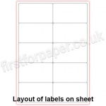 Mutipurpose White Office Labels, 99.1 x 57mm, 100 sheets per box