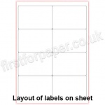Mutipurpose White Office Labels, 99.1 x 67.7mm, 100 sheets per box