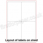 Mutipurpose White Office Labels, 139 x 99.1mm, 100 sheets per box