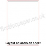 Multipurpose White Office Labels, 199.6 x 143.5mm, 100 sheets per box