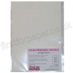 Clear inkjet Printable Acetate, A4 - 5 sheets