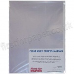 Multi-Purpose Clear Acetate Sheets, A4 - 5 sheets